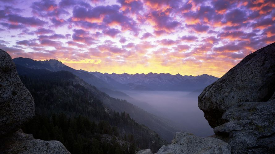 mountains landscapes nature forests rocks California National Park skyscapes Moro wallpaper