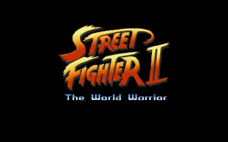 video games Street Fighter old game logos retro games wallpaper