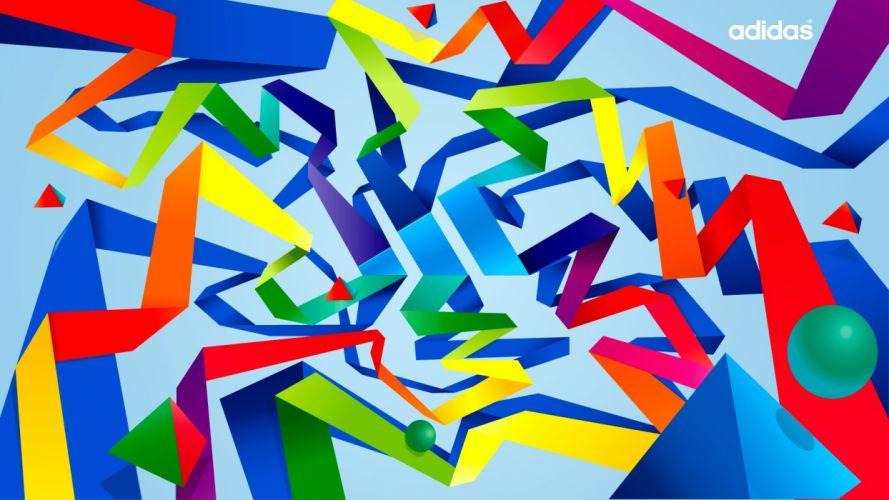 origami multicolor design vectors Adidas artwork line line art wallpaper