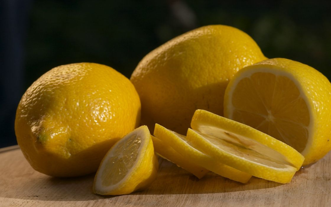 fruits macro lemons slices wallpaper