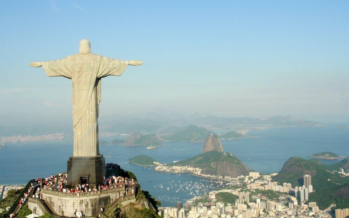 cityscapes Rio De Janeiro Cristo Redentor Christ the Redeemer wallpaper