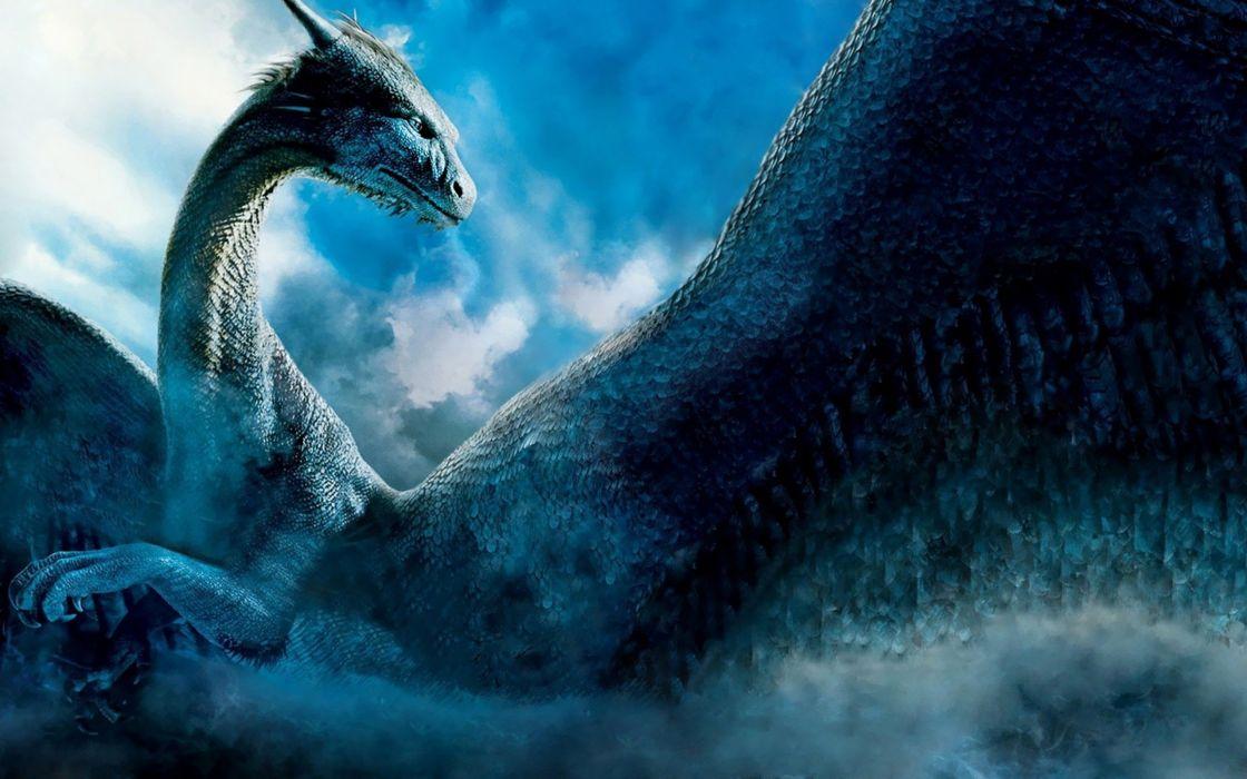 dragons monsters Blue Dragon creatures artwork wallpaper