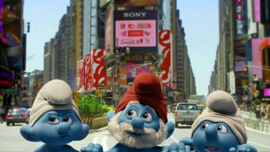 movies The Smurfs Papa Smurf Smurfette wallpaper