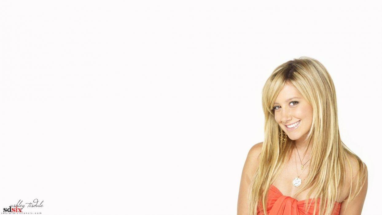 models Ashley Tisdale simple background wallpaper
