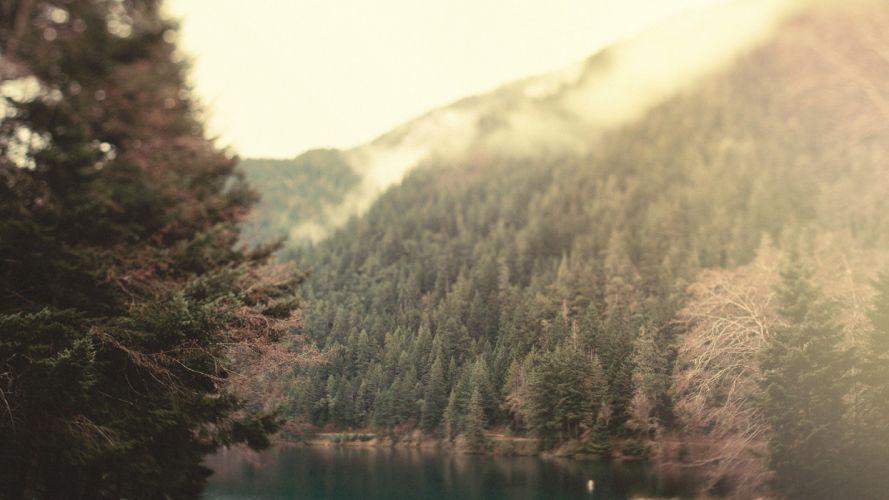 landscapes tilt-shift lakes wallpaper