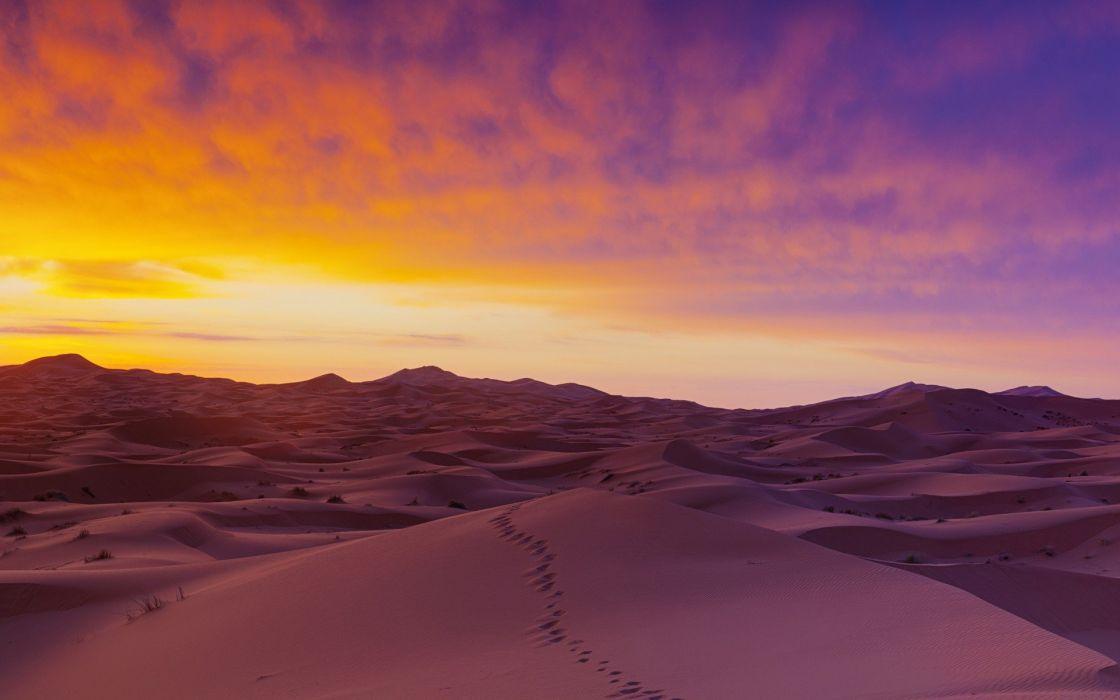 sand dunes Sahara Desert view wallpaper