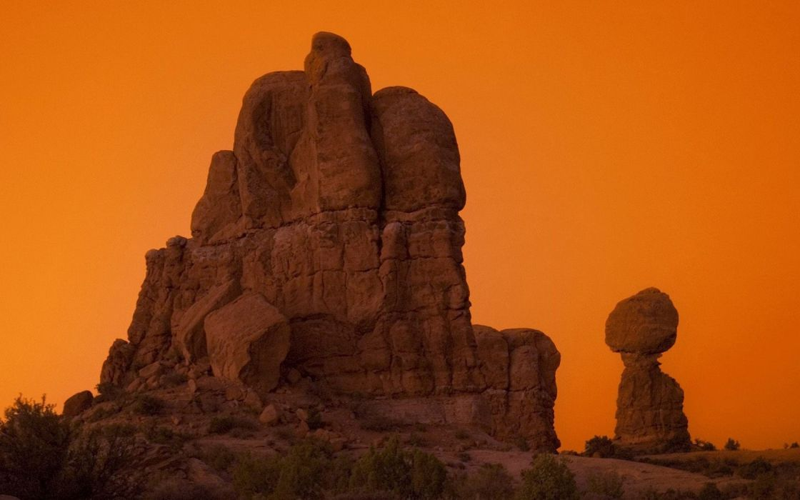 landscapes nature rocks Arches National Park Utah National Park wallpaper