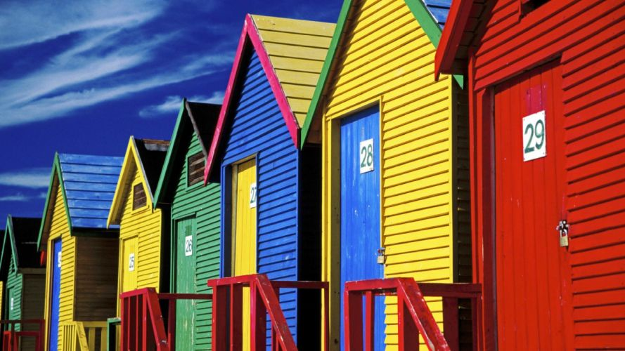 houses South Africa Africa beaches wallpaper