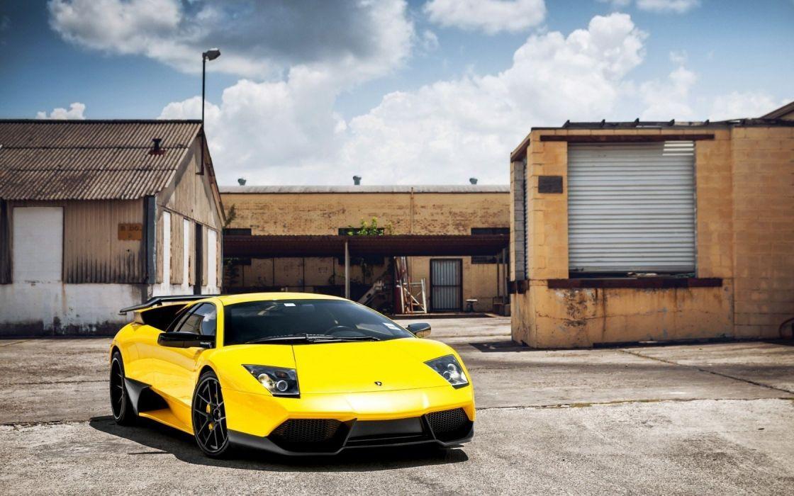 Lamborghini Murcielago yellow cars wallpaper