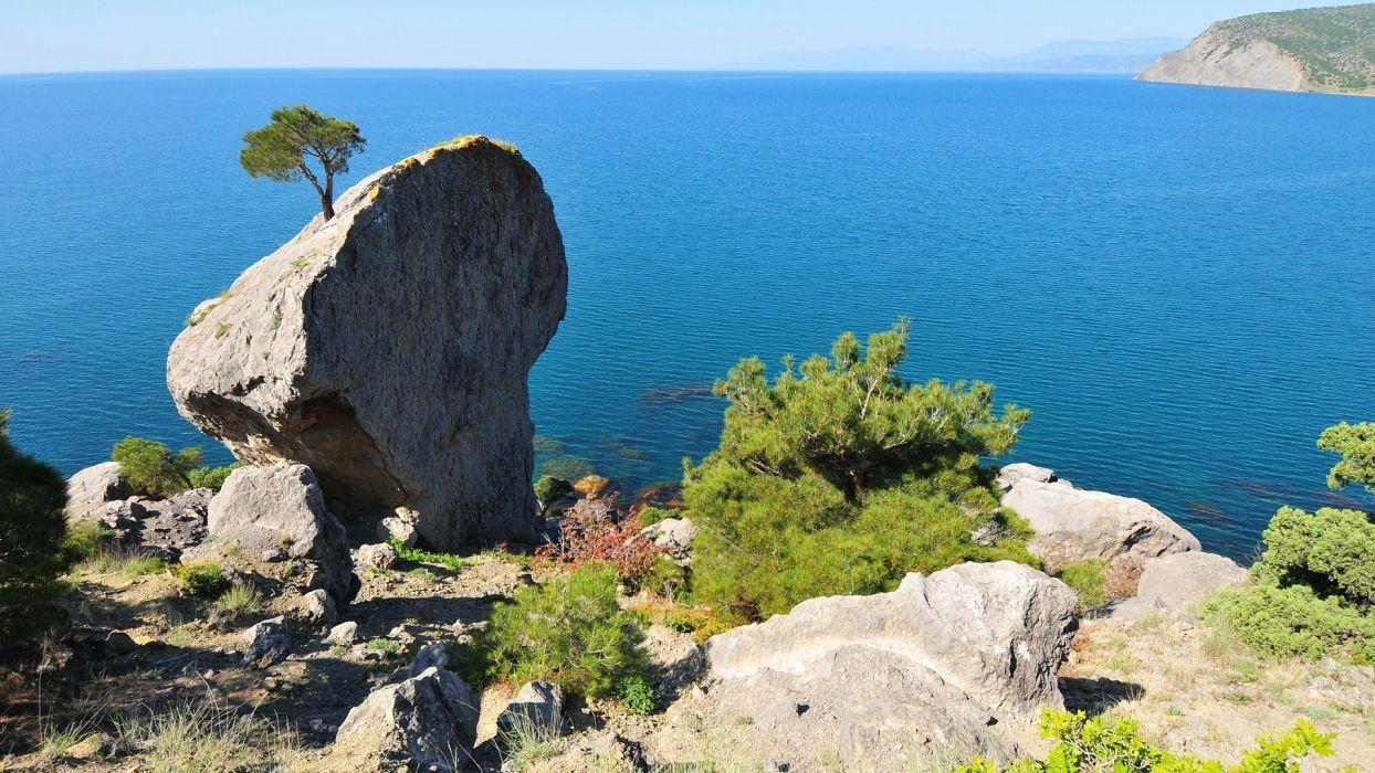 ocean landscapes nature cliffs sea wallpaper