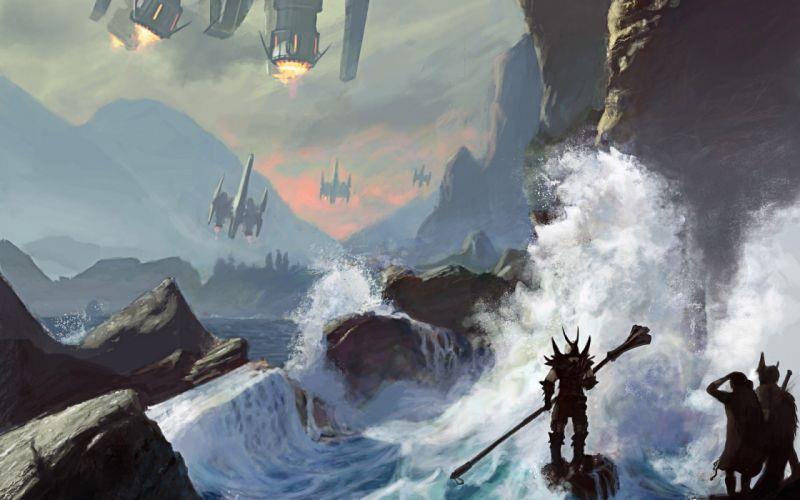 futuristic fantasy art artwork wallpaper