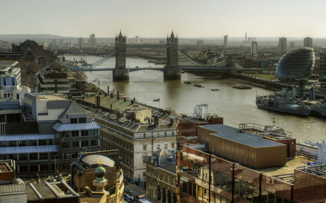 cityscapes England architecture London Tower Bridge River Thames wallpaper