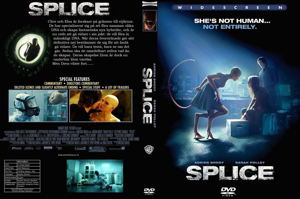 SPLICE horror sci-fi dark movie film poster wallpaper