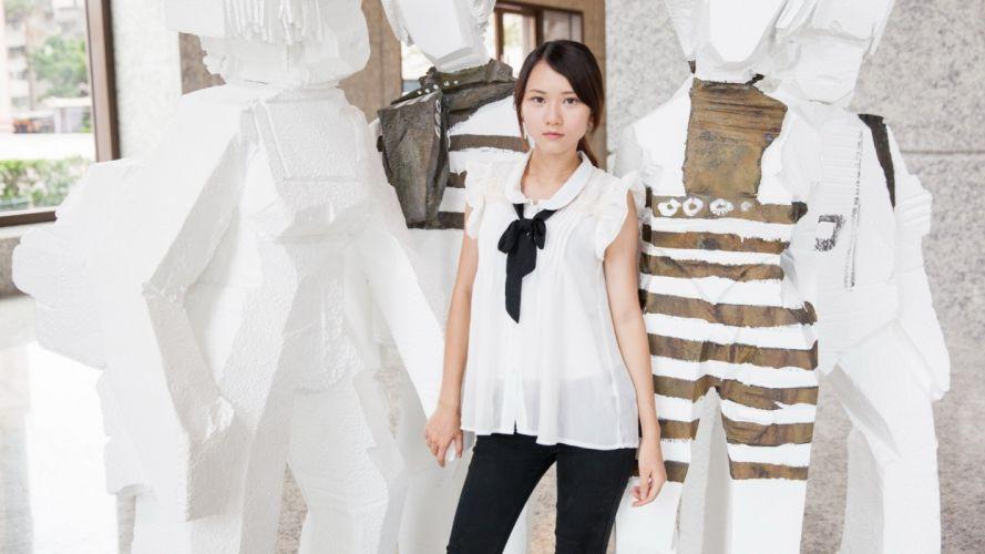women Japanese Asians models wallpaper