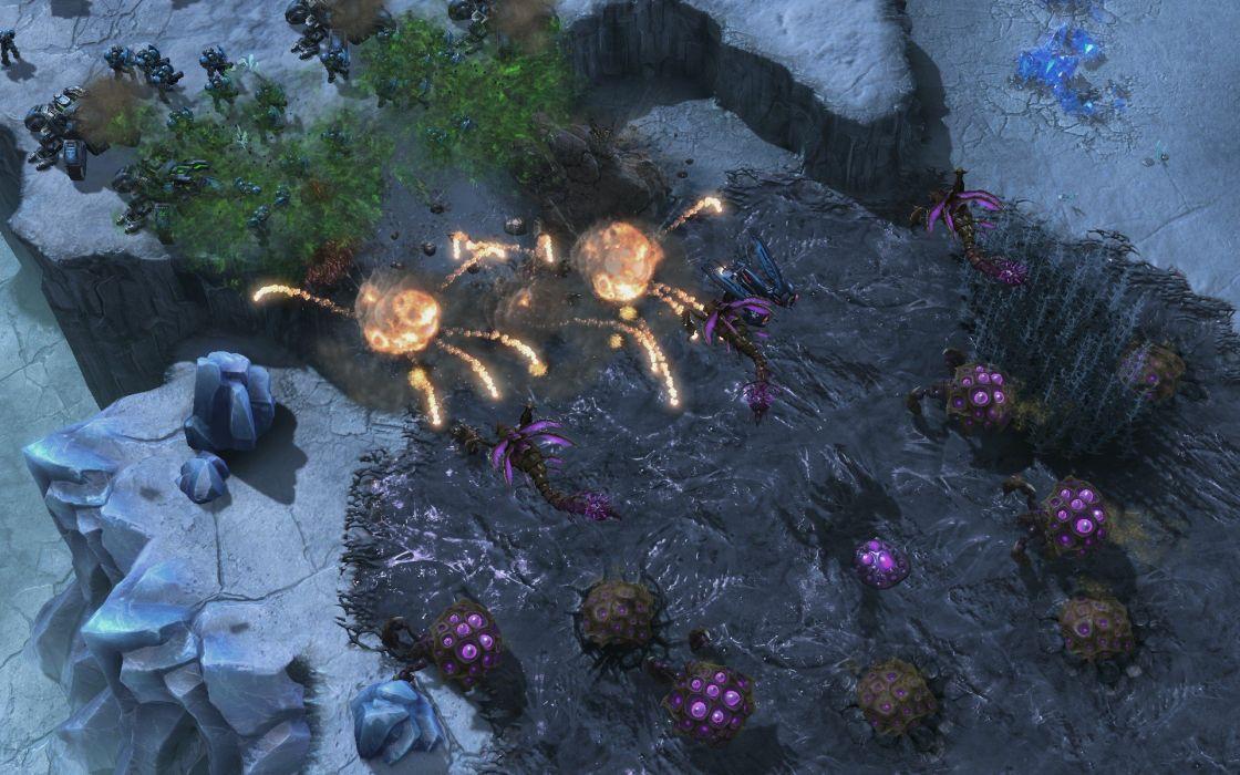 swarm screenshots StarCraft II Heart of the Swarm wallpaper