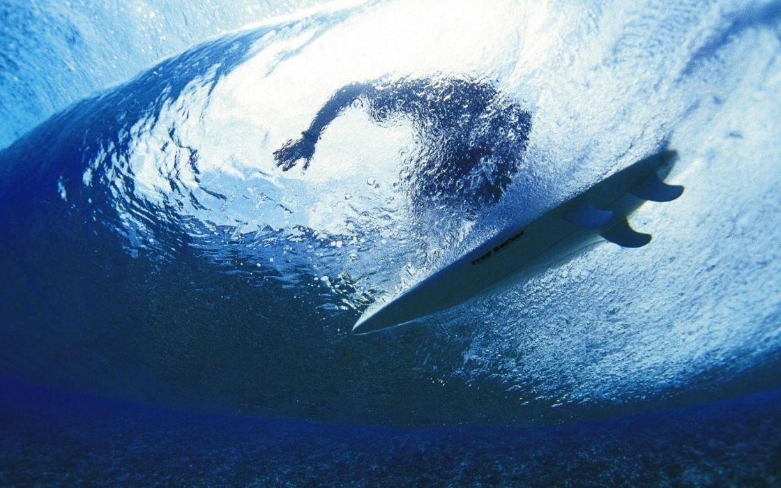 water waves sports surfing underwater sea wallpaper