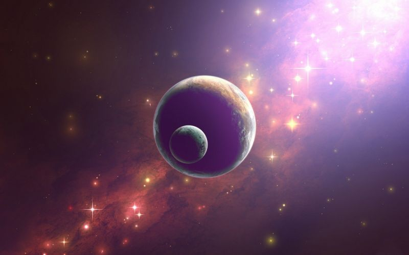 outer space stars planets wallpaper
