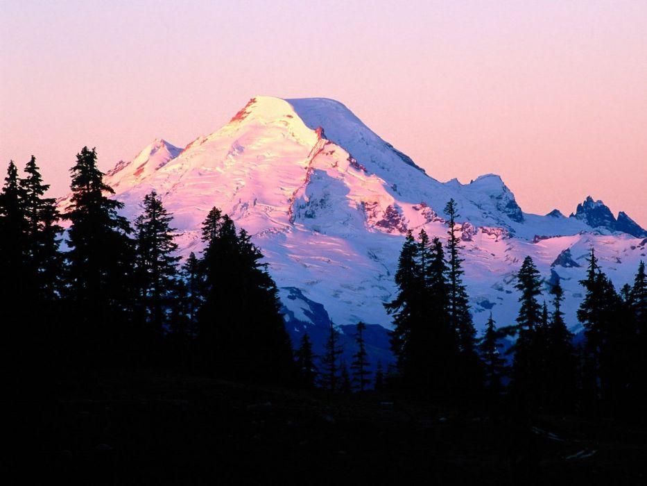 sunrise autumn Baker Washington Mount wallpaper