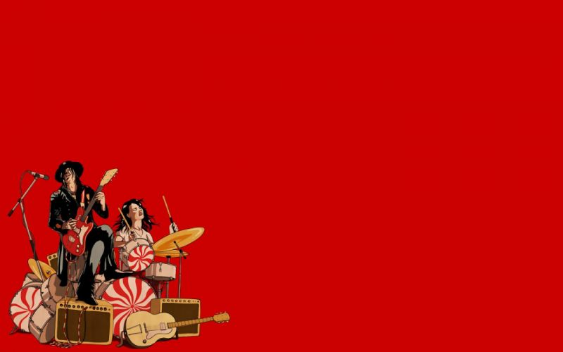 music rocks funny The White Stripes simple background wallpaper
