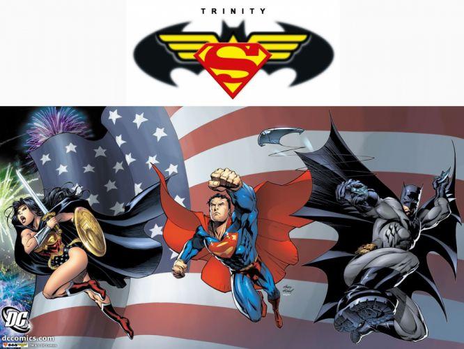 Batman DC Comics Superman superheroes Trinity Batman Logo Wonder Woman wallpaper