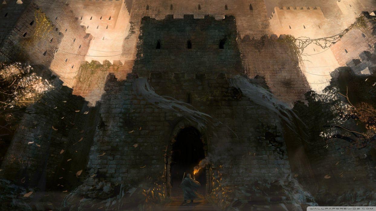 castles artwork wallpaper