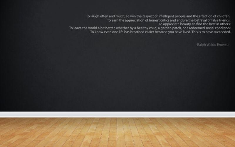 minimalistic quotes Ralph Waldo Emerson children wallpaper