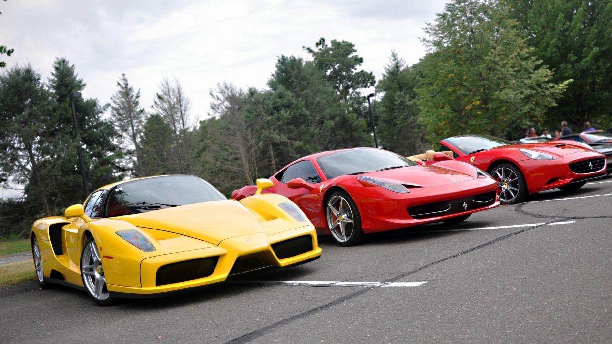 cars Ferrari vehicles Ferrari 458 Italia Ferrari Enzo wheels automobiles wallpaper