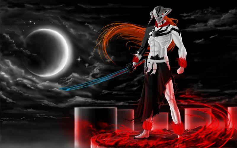 Bleach Moon Hollow Ichigo pillars swords VastoLorde Hueco Mundo wallpaper