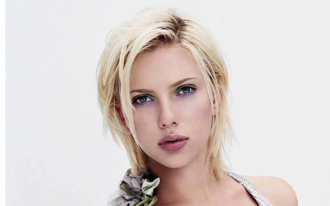 blondes women Scarlett Johansson portraits wallpaper