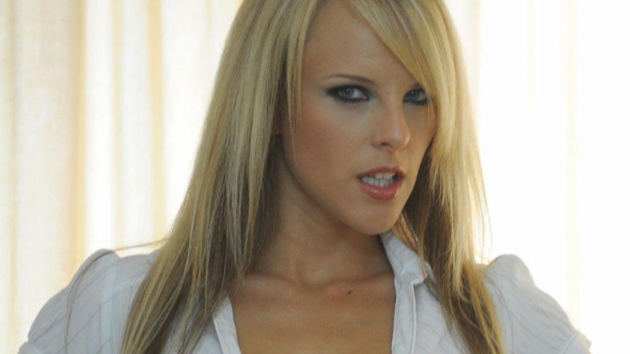 blondes women white Mackenzie White open mouth wallpaper