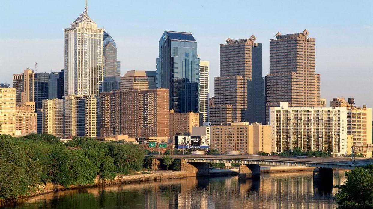 bridges Pennsylvania Philadelphia rivers cities wallpaper