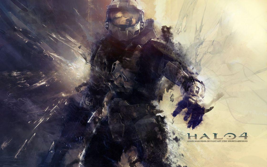 video games Halo Master Chief artwork wallpaper