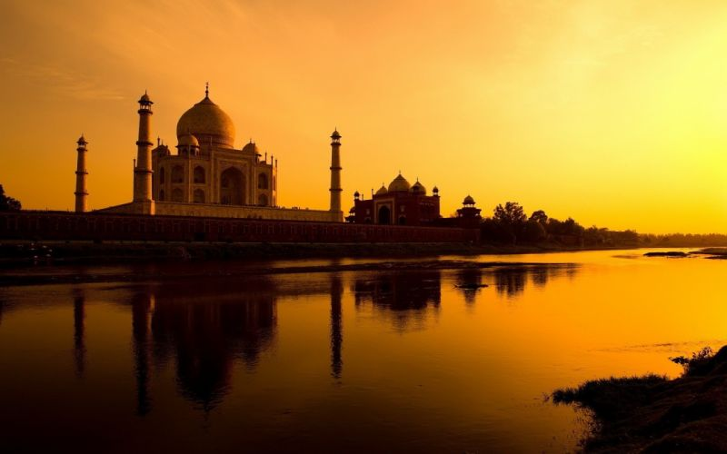 cityscapes Taj Mahal wallpaper