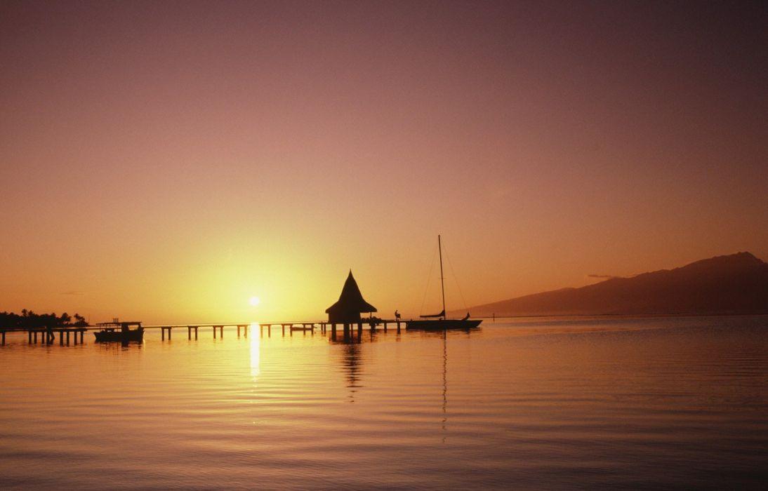 ocean dock paradise wallpaper