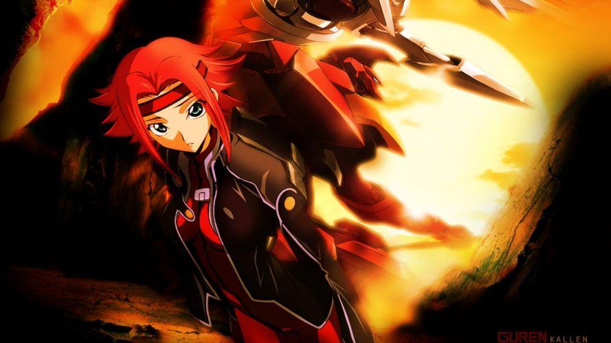 Code Geass Stadtfeld Kallen anime anime girls wallpaper