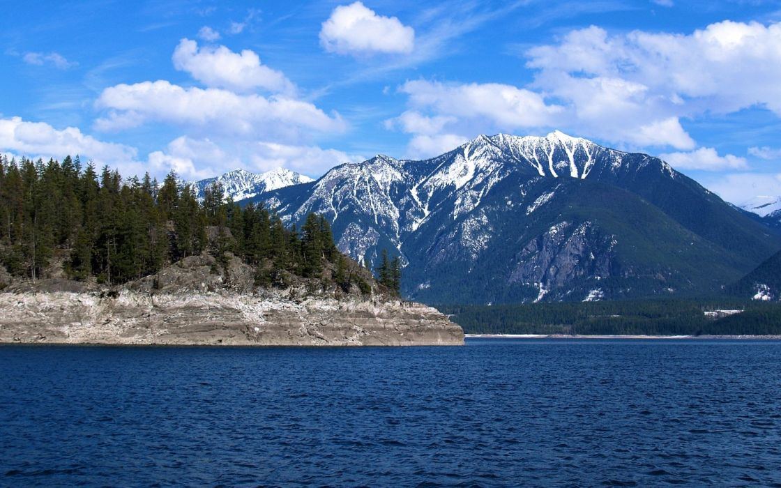 water mountains landscapes wallpaper