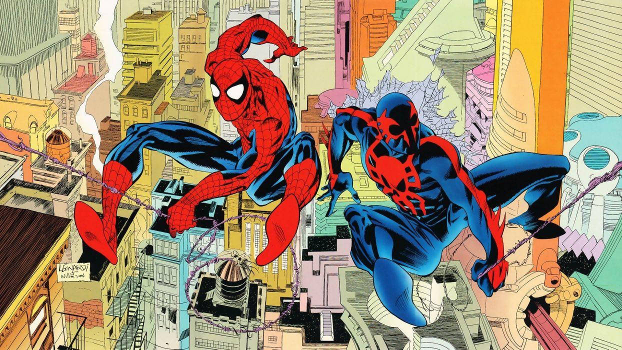comics Spider-Man Peter Parker Spider-Man 2099 Miguel O'Hara wallpaper