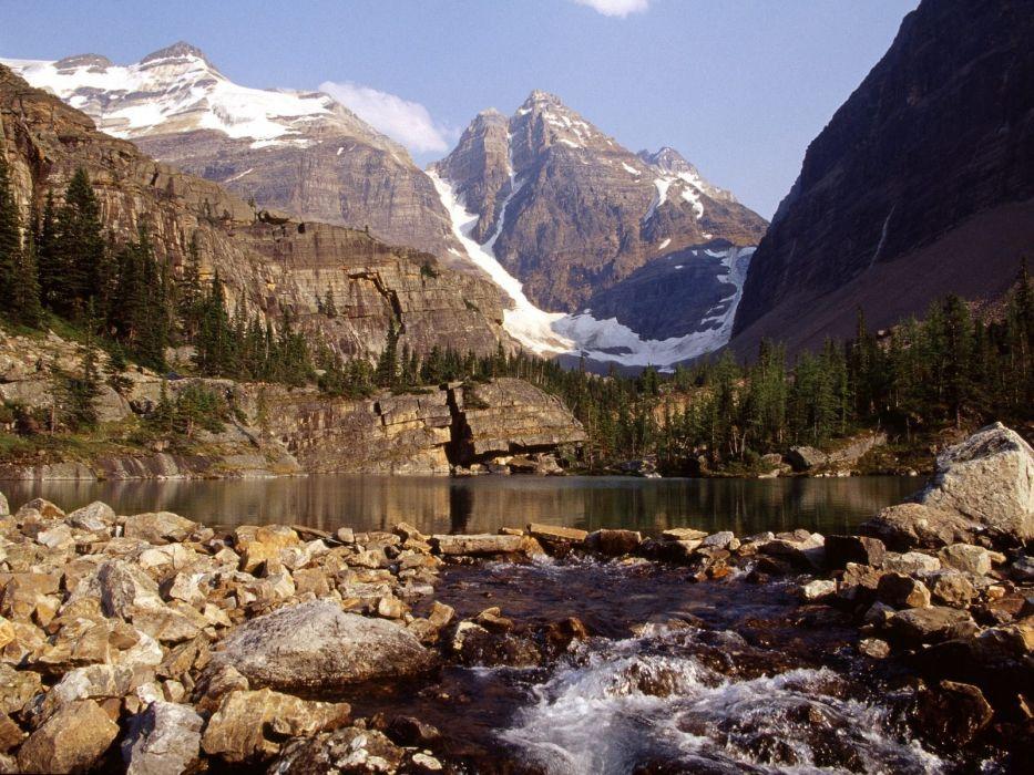 mountains landscapes rivers wallpaper