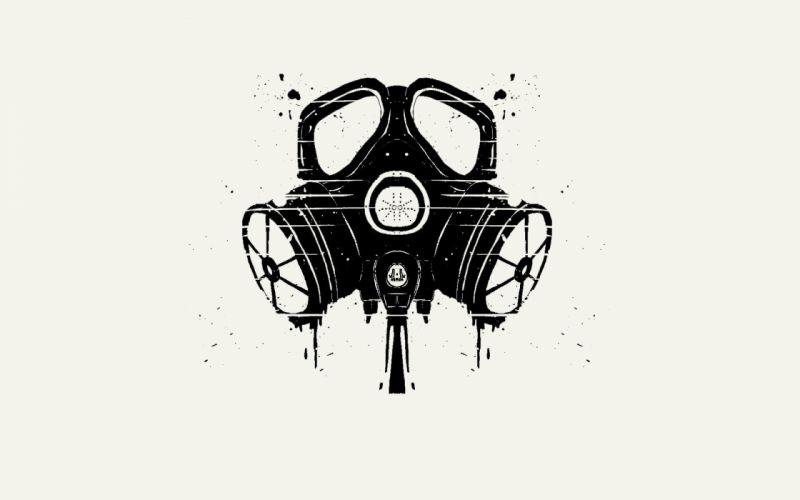 minimalistic gas masks simple background wallpaper
