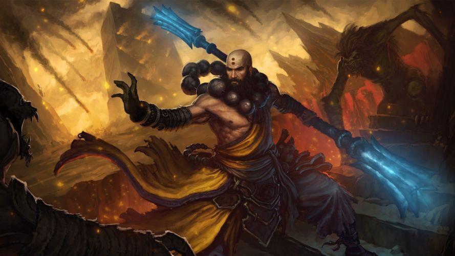 video games artwork Diablo III HDR photography wallpaper