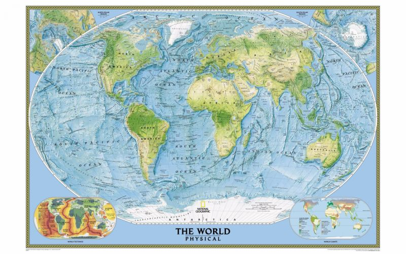National Geographic world map wallpaper