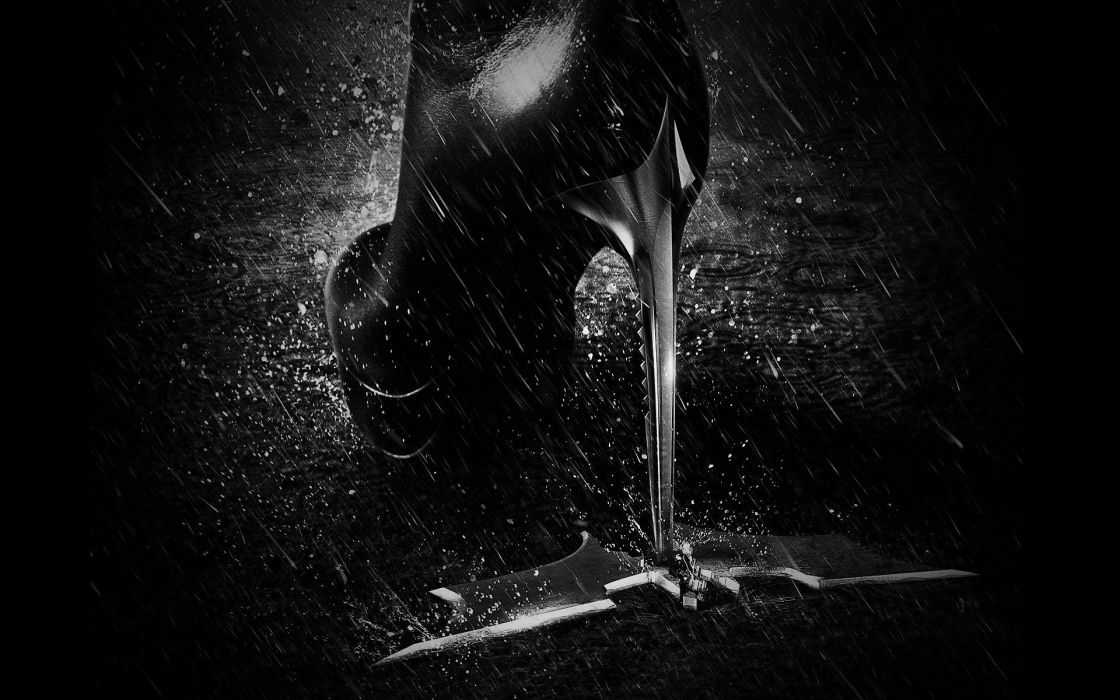 Batman rain Catwoman high heels monochrome Batman The Dark Knight Rises ICON wallpaper