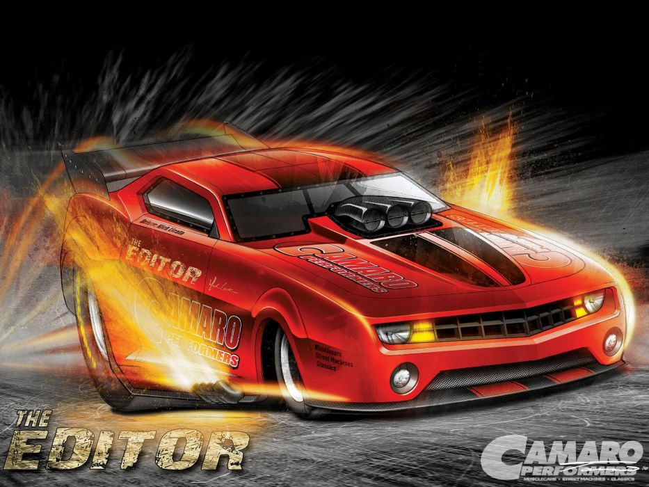 DRAG RACING race hot rod rods funnycar chevrolet camaro poster      h wallpaper