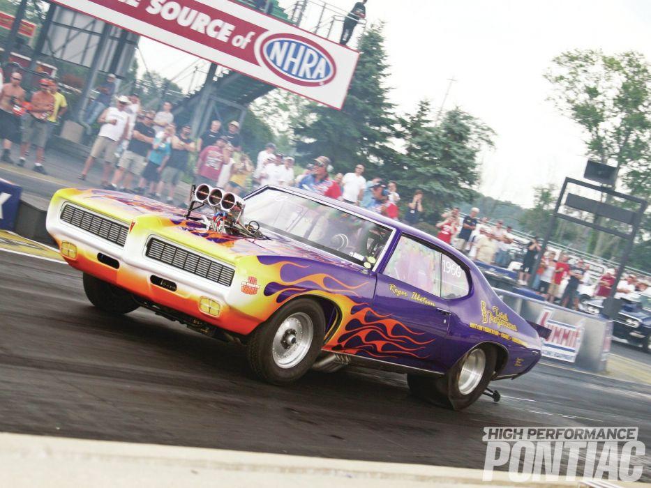 DRAG RACING race hot rod rods pontiac    g wallpaper