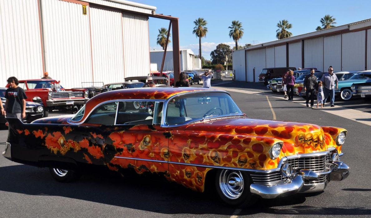 hot rod rods custom Cadillac lowrider skull      g_JPG wallpaper
