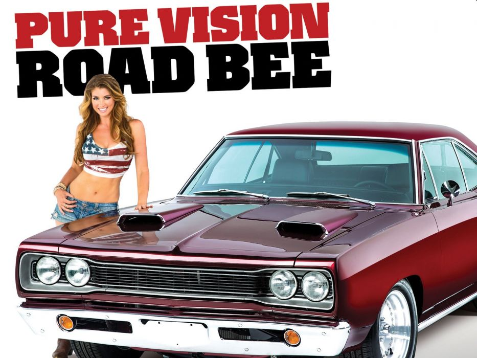 1969 1970 B Body Plymouth Dodge Road Bee hot rod rods muscle classic poster     h wallpaper