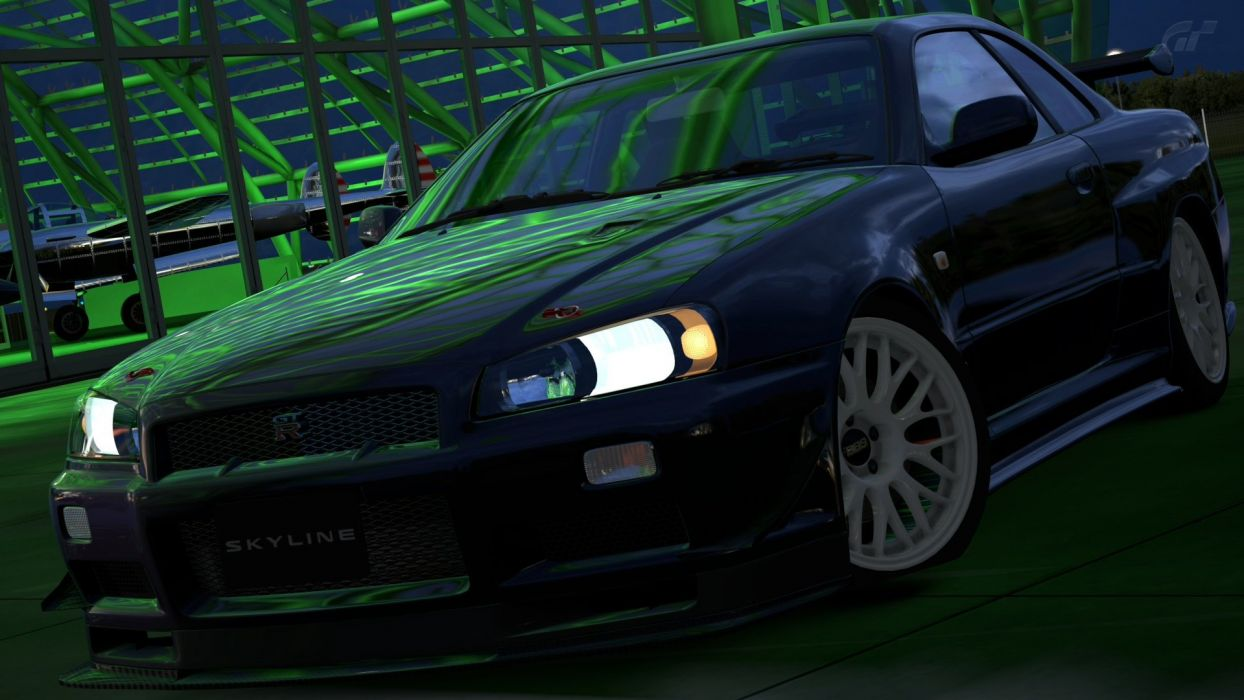 video games cars Gran Turismo 5 Playstation 3 Nissan Skyline R34 GT-R wallpaper
