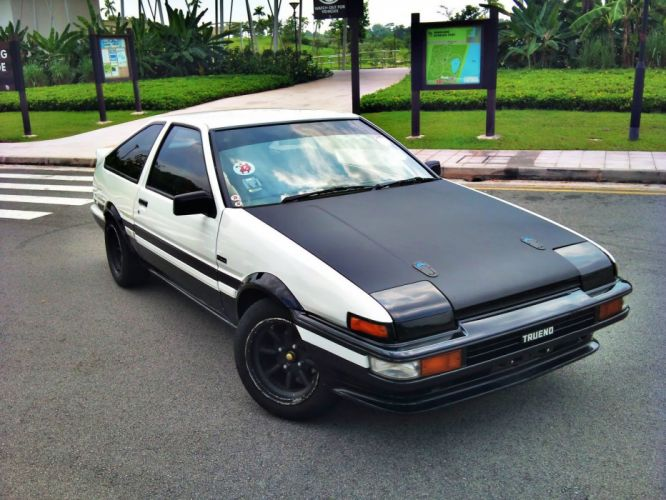 cars Toyota AE86 Initial D wallpaper
