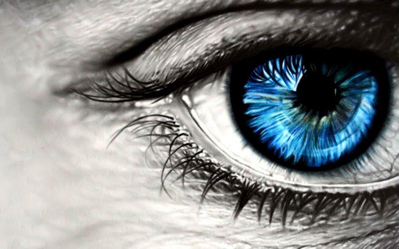 close-up blue eyes wallpaper