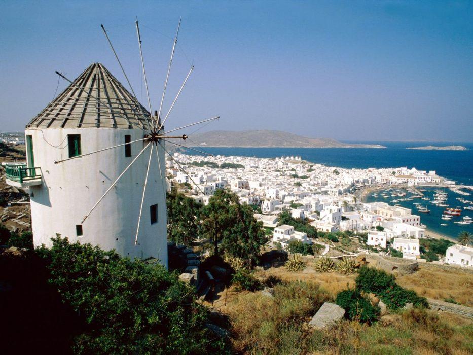 islands Greece wallpaper
